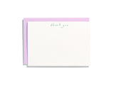 Handwritten Thank You Emerald Flat Note Box Set