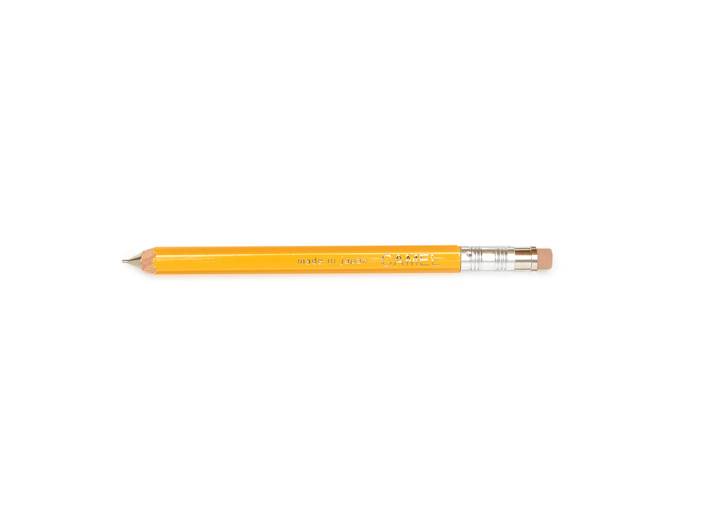Camel Wooden .5mm Mechanical Pencil - YELLOW