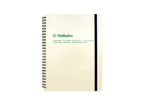Rollbahn Spiral Notebook: Cream (Extra Large)