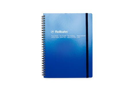 Rollbahn Spiral Notebook: Blue (Extra Large)