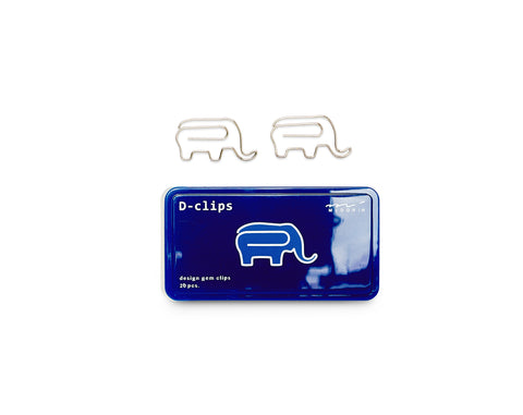 Midori D-Clips Elephant Paperclips