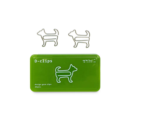 Midori D-Clips Dog Paperclips