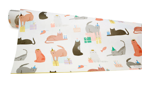 Cat Party Gift Wrap Sheet