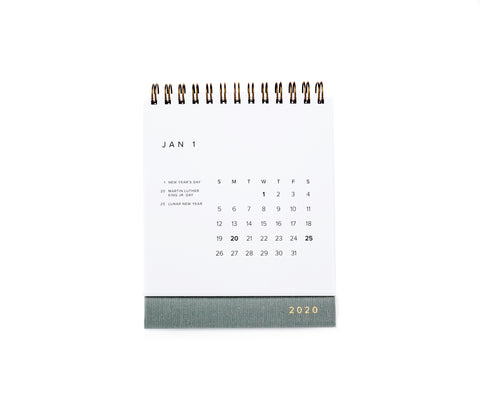 2020 Appointed Desk Calendar - Dove Grey