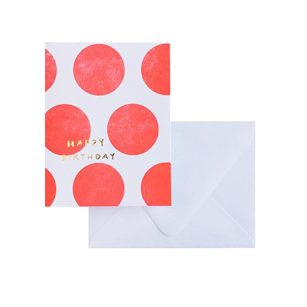 Dots w/ Gold Foil: Happy Birthday
