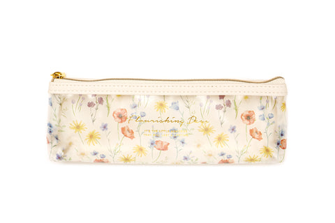 Pen Case - Flower Ivory