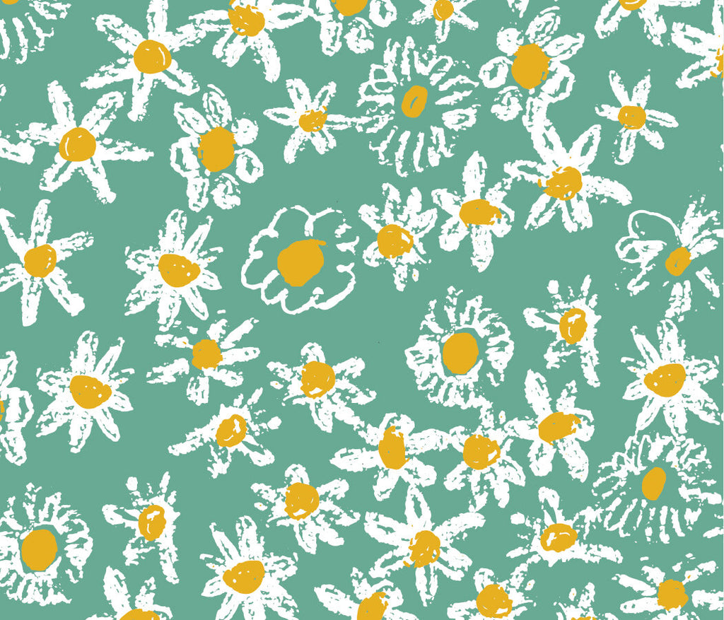 Green Daisy Fields Gift Wrap