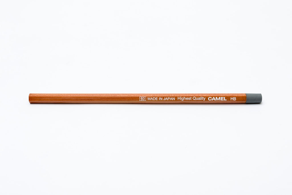 Camel HB Natural Body Pencil - Grey Eraser