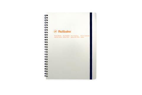 Rollbahn Spiral Notebook: Ash Grey (Extra Large)