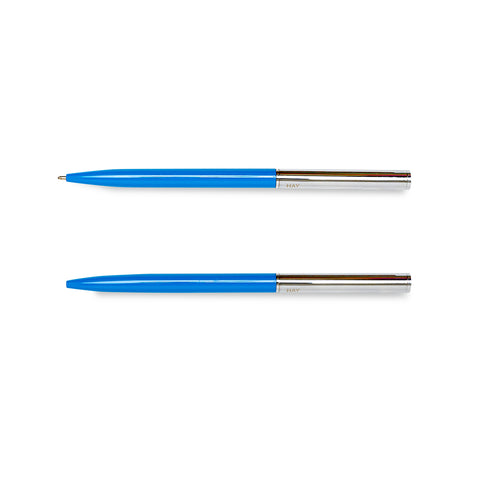 HAY Pen - Silver / Bright Blue