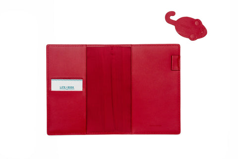 Hobonichi A6 Techo Planner 2020 - Taut Red Leather Set