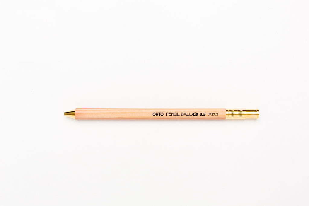 Ohto Pencil Ball Gel Pen 0.5mm - Natural