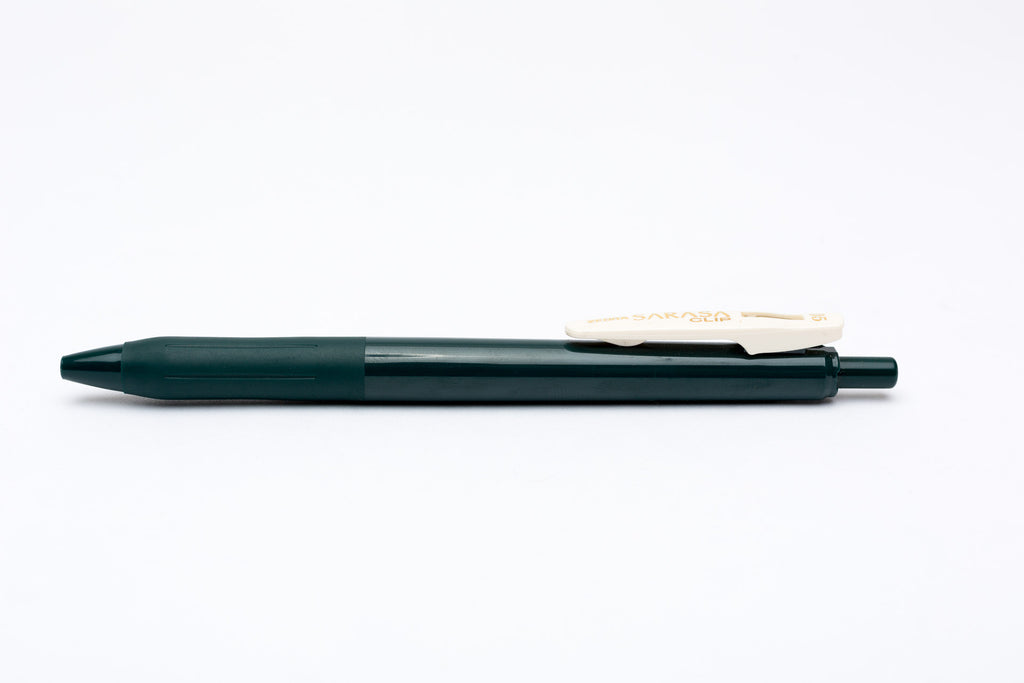 Zebra Sarasa Push Clip Gel Pen - Vintage Green Black