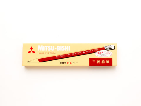 Mitsubishi Pencil with Eraser 9850 HB - 12 pack
