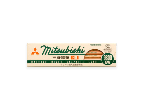 Mitsubishi Recycled Pencil Set 9800EW HB - 12 pack