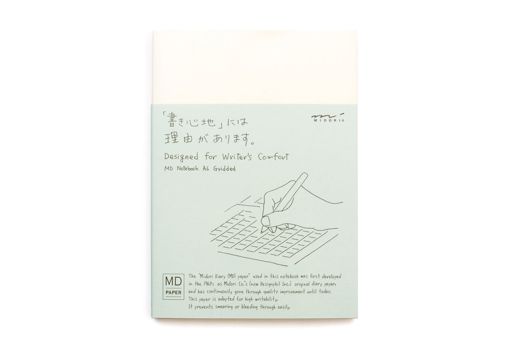 Midori Notebook A6 Grid English Caption