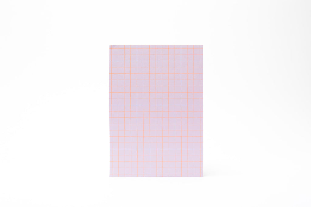 LeTypographe A5 Grid Pad: Lilac/Orange