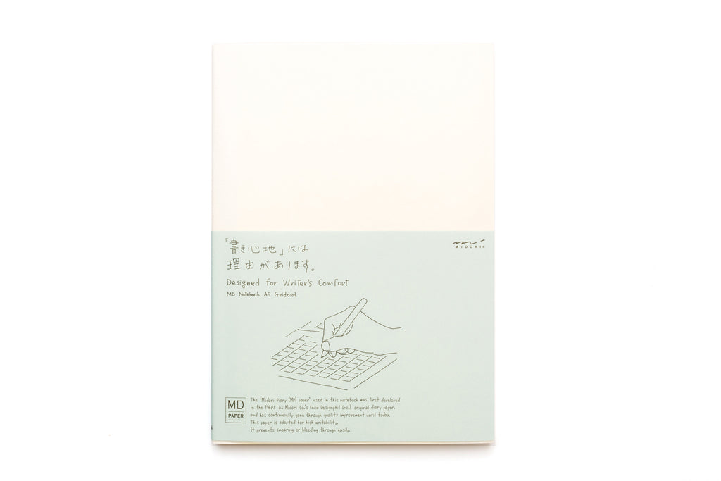 Midori Notebook A5 Grid English Caption