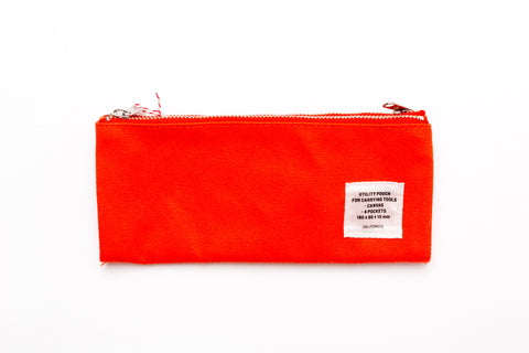 Delfonics Double Fastener Pen Case - ORANGE