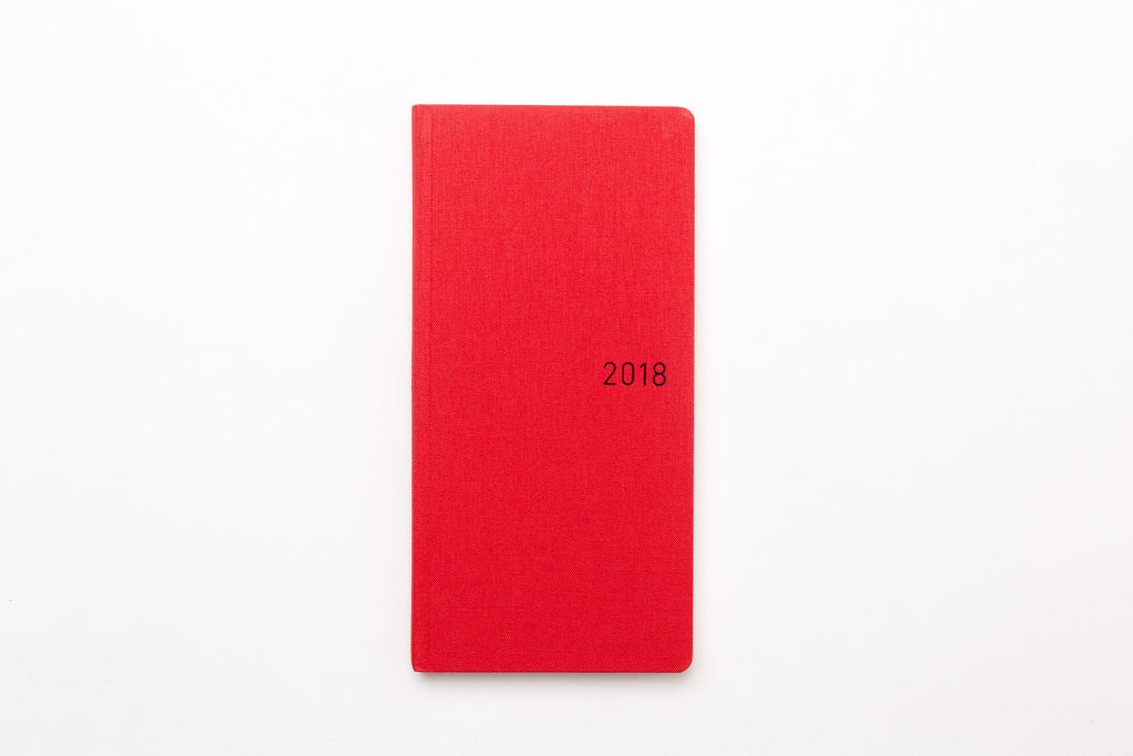 Hobonichi Techo Weeks Sunset Red Planner 2018