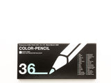 Square Black Mat 36 Color Pencil Half Size