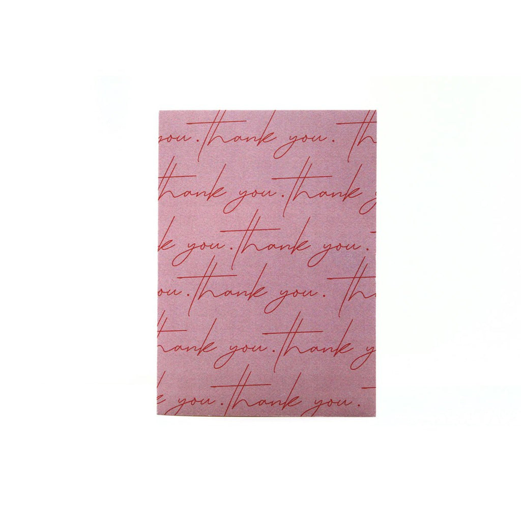 Thank You Card - Dusty Rose