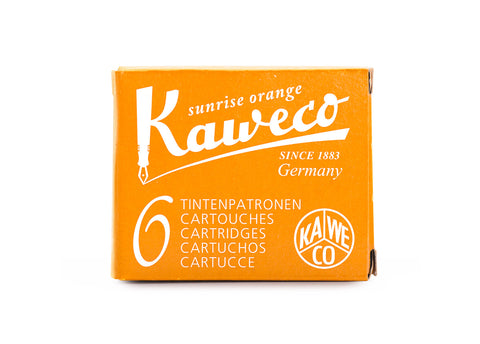 Kaweco Sunrise Orange Fountain Ink Cartridges