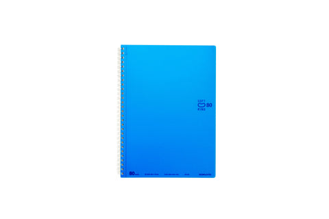 Kokuyo Soft Ring Notebook 6mm Dotted Line - B5 80 Sheets - Blue