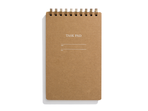 Task Pad Notebook - Kraft