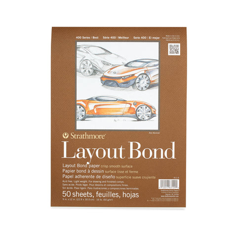 9x12 Layout Bond Pad - 50 sheets