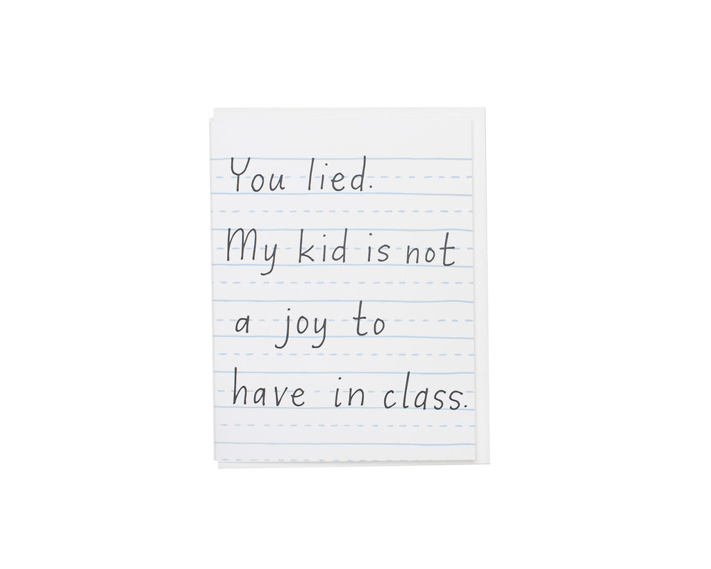 You Lied - Teacher Thanks