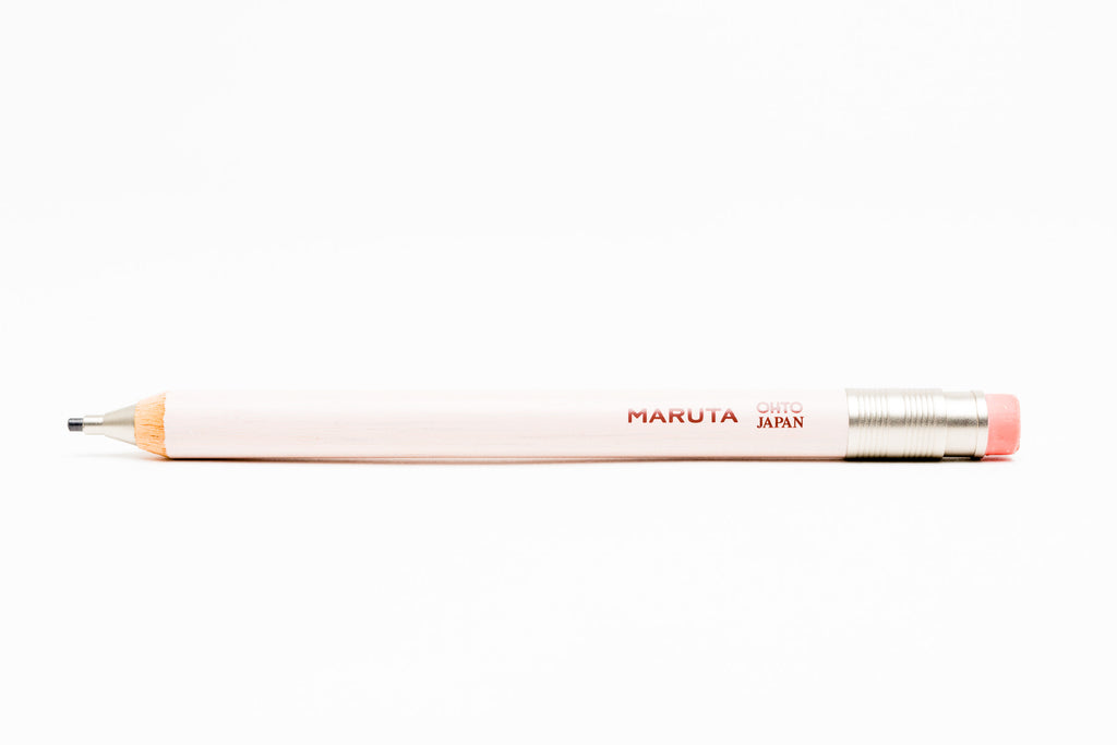 Ohto Maruta Wooden Mechanical Pencil 2.0mm - White