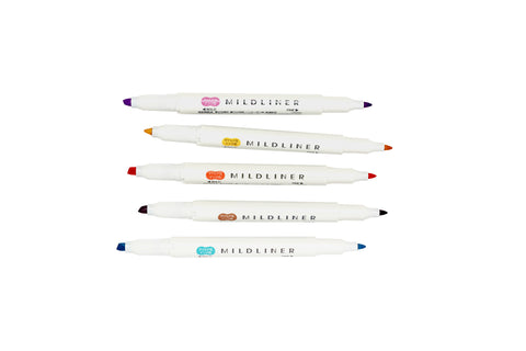 Mildliner 5 Color Highlighter Set - RC