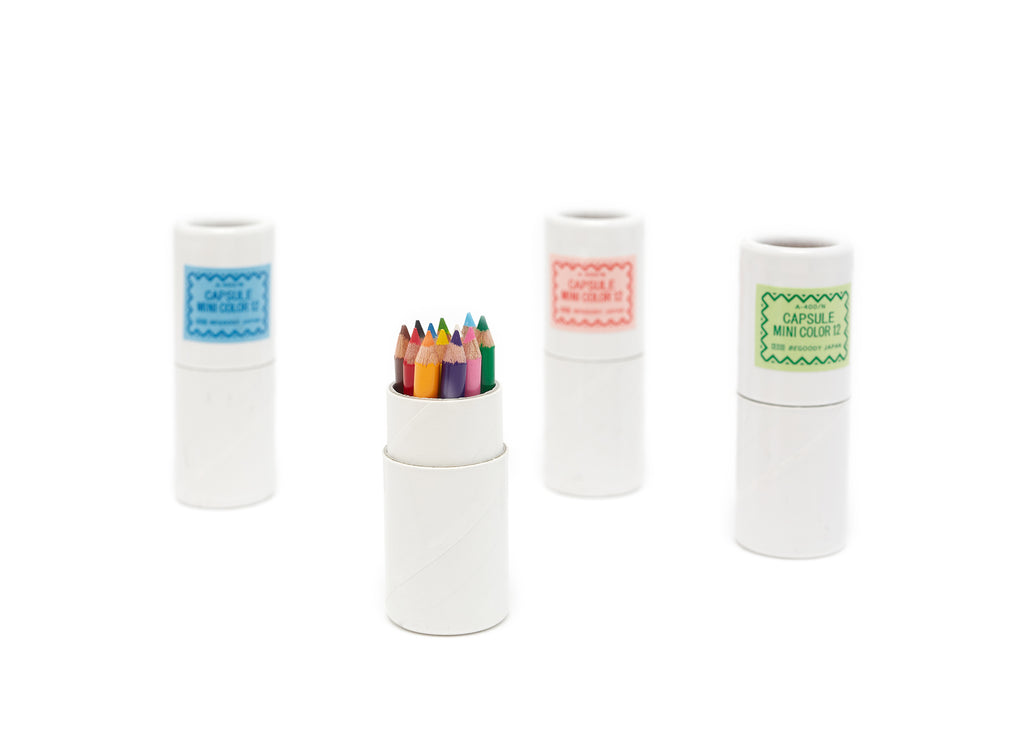 Set of 12 Tiny Colored Pencils in Capsule