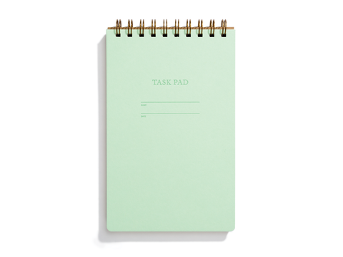 Task Pad Notebook - Mint