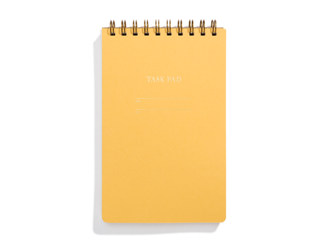 Task Pad Notebook - Mustard