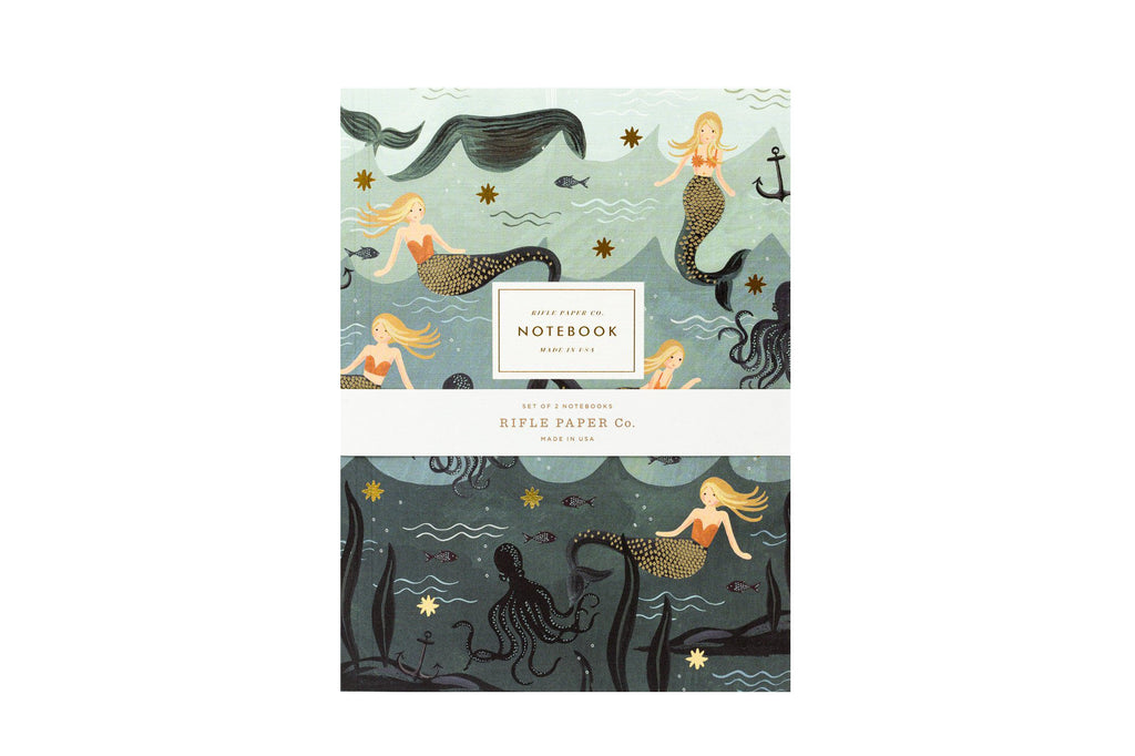 Pair of 2 Mermaid Notebooks