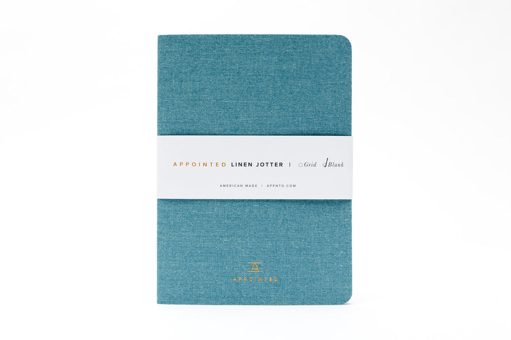 Linen Jotter by Appointed (Chambray Blue)