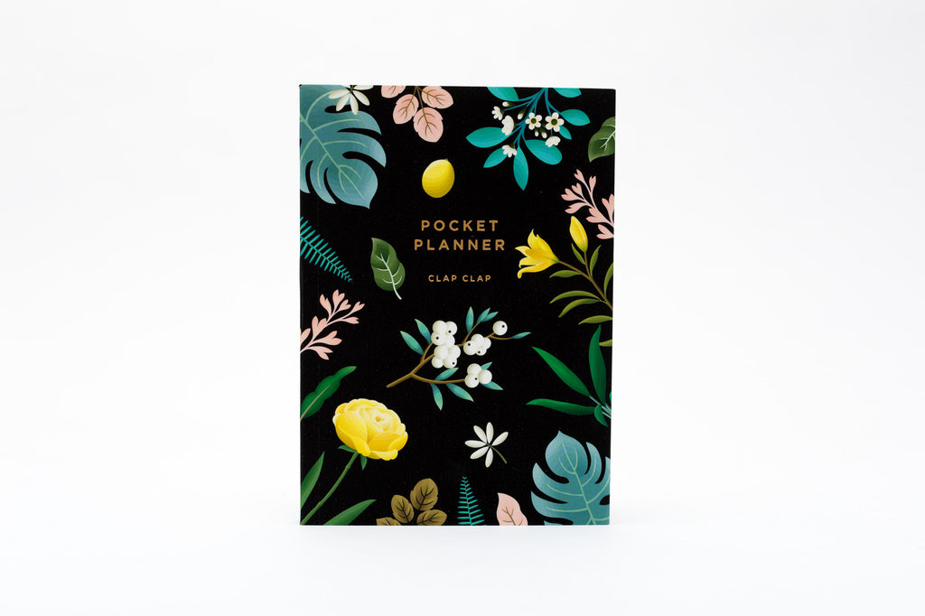 Botanical Pocket Planner - Black