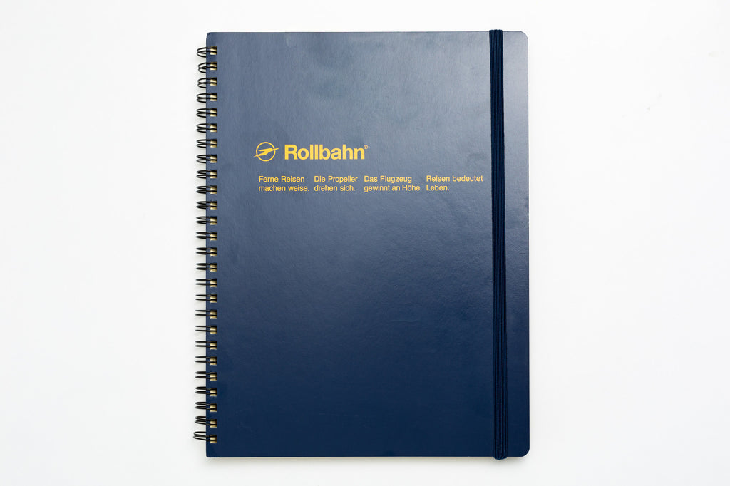 Rollbahn Spiral Notebook: Dark Blue (Extra Large)