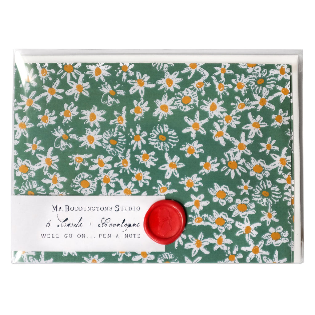 Green Daisy Fields Boxed Notecards - Set of 6