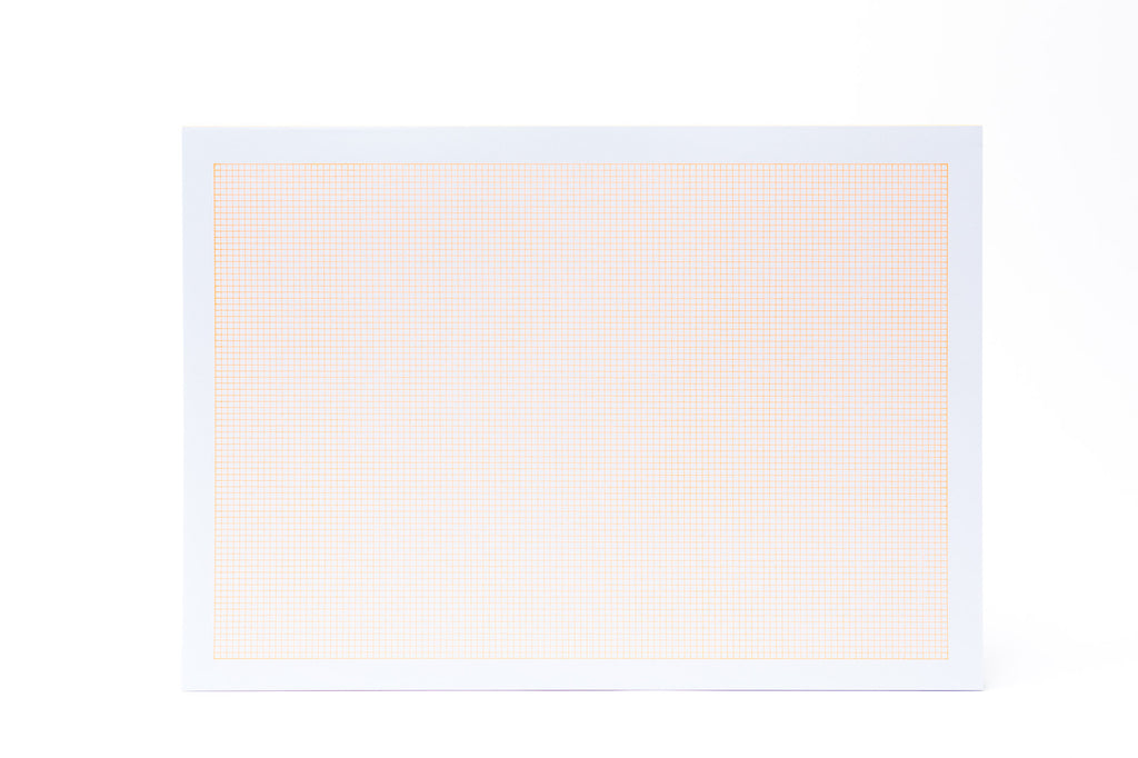LeTypographe A4 Quadrille Pad: Orange