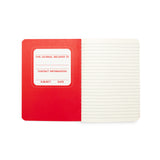 Color Write Mini Pocket Pal Journal - Red