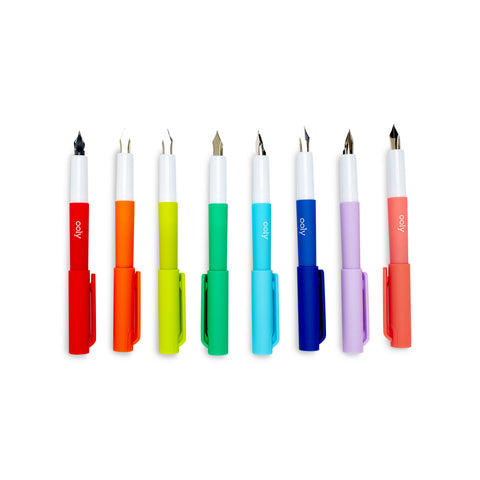 Color Write Fountain Pens - Set of 8