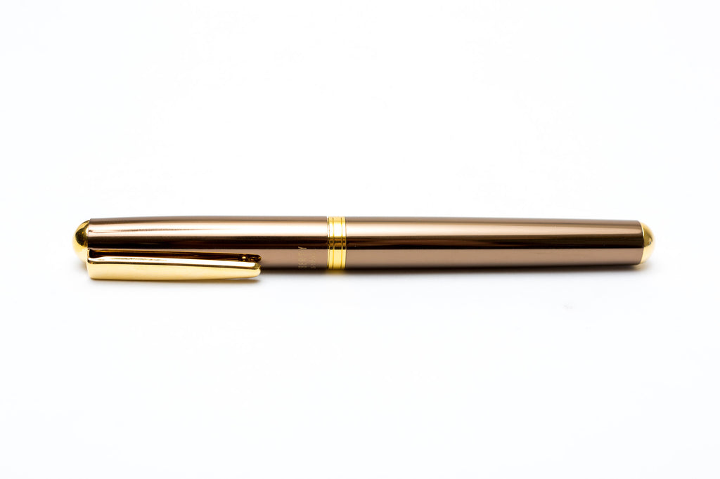 Ohto Liberty Ceramic Roller Ball Pen Thick Axis - Brown