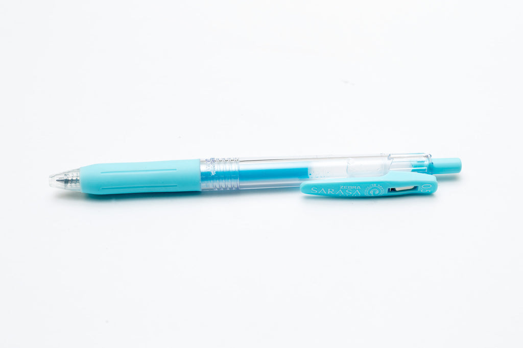 Zebra Sarasa Push Clip Gel Pen - Milk Blue