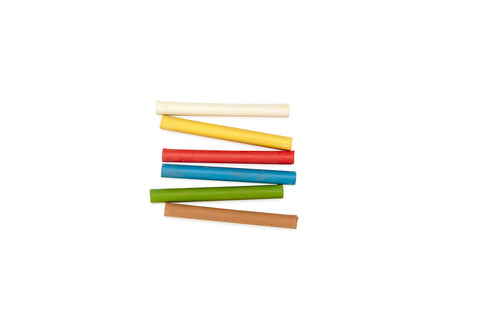 Three Stars Colored Champagne Chalk - 6 Sticks (Small)