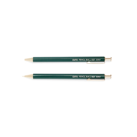 Ohto Pencil Ball Needle Point w/ Clip - Green