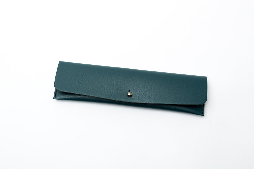 Minimalist Pencil Pouch - Emerald