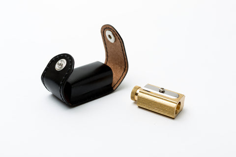Brass Adjustable Pencil Sharpener (with case)